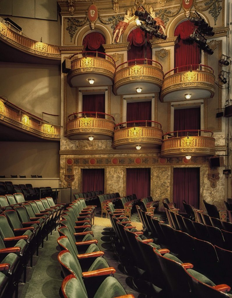 London theatre inside seats